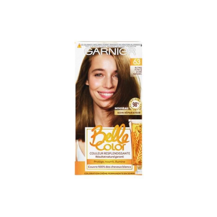 coloration garnier belle color coloration ndeg 63 blond - Belle Color Blond Cendr