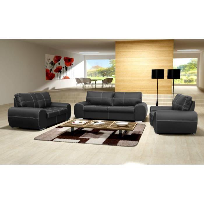 Justhome toffi ensemble de meubles de salon 3r 2 1 en for Ensemble de salon complet