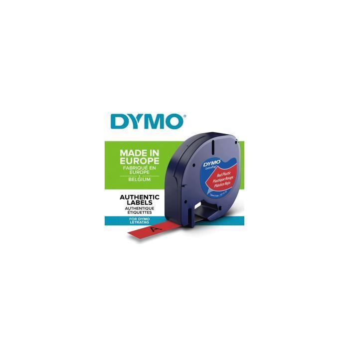 cassette de ruban plastique pour dymo letratag achat vente etiqueteuse titreuse cassette. Black Bedroom Furniture Sets. Home Design Ideas