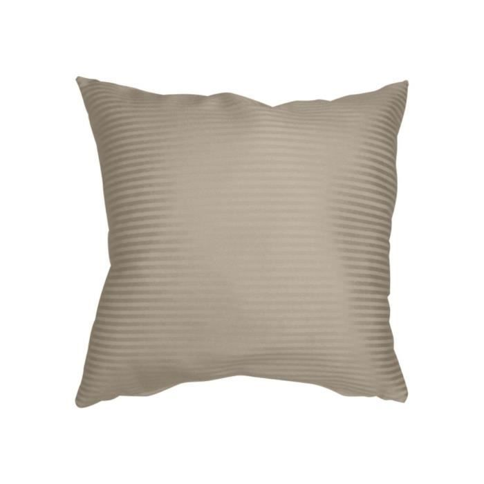 coussin d233co 40x40 cm ray taupe jacquard achat vente