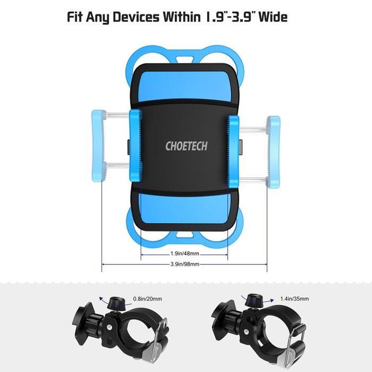choetech support de t l phone sur v lo moto installer et retirer d 39 un seul coup pour iphone. Black Bedroom Furniture Sets. Home Design Ideas