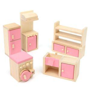 meuble en bois pour maison de poupee achat vente jeux et jouets pas chers. Black Bedroom Furniture Sets. Home Design Ideas