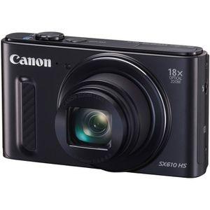 APPAREIL PHOTO COMPACT CANON POWERSHOT SX610 HS Noir - CMOS 20 Mpix Appar