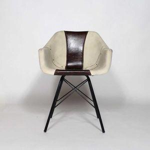 fauteuil industriel cuir et m tal noir s29 achat vente fauteuil cdiscount. Black Bedroom Furniture Sets. Home Design Ideas