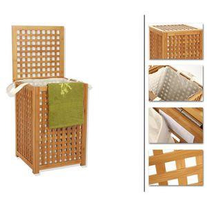 panier a linge sale bois achat vente panier a linge. Black Bedroom Furniture Sets. Home Design Ideas