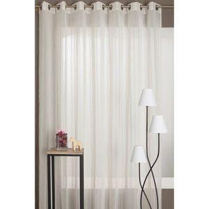 rideaux grande largeur achat vente rideaux grande largeur pas cher cdiscount. Black Bedroom Furniture Sets. Home Design Ideas