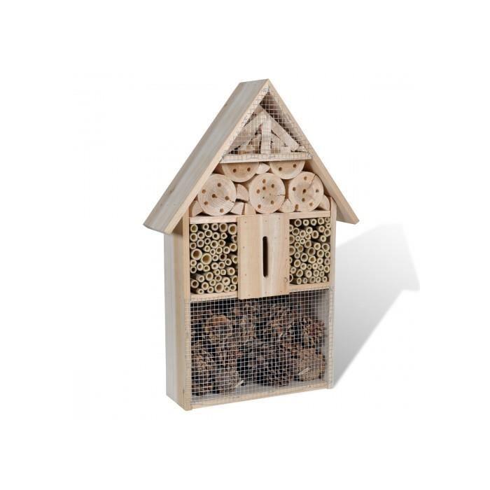 Hotel en bois pour insectes achat vente vivarium for Insecte bois meuble