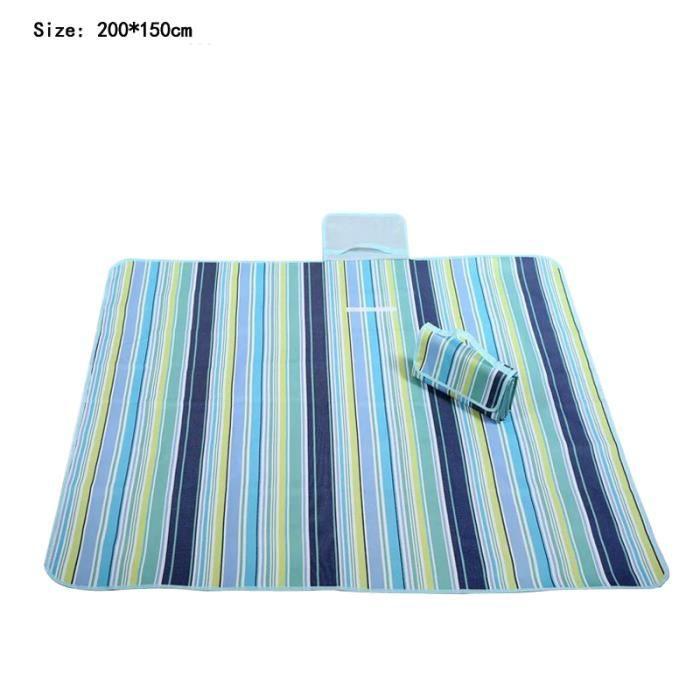 150 200cm tapis pique nique imperm able achat vente - Tapis 200 x 200 ...