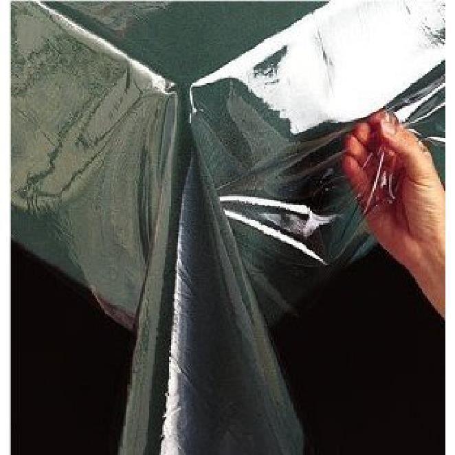 Nappe transparente 30 100 me 140cm x 300cm achat vente for Nappe de table transparente