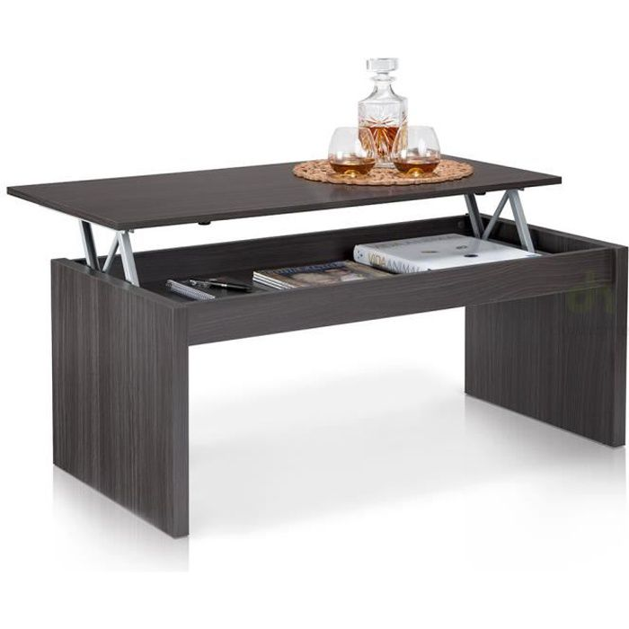 Table Basse Plateau Relevable Grise Achat Vente Table