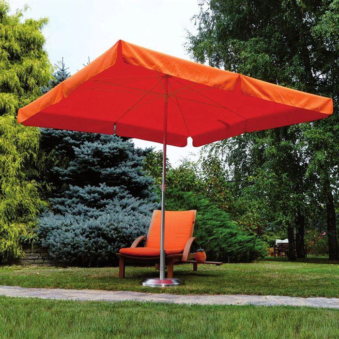parasol classique rectangulaire alux de 6m orange achat vente parasol ombrage parasol. Black Bedroom Furniture Sets. Home Design Ideas