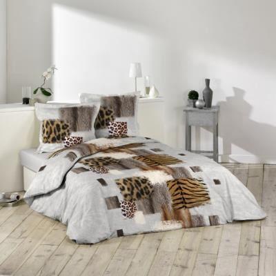 housse de couette et taies d 39 oreiller fauve achat. Black Bedroom Furniture Sets. Home Design Ideas