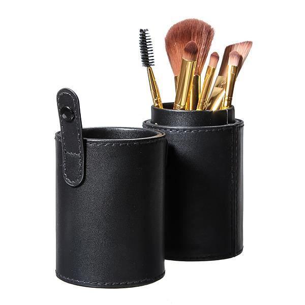 trousse rangement pour pinceau maquillage noir. Black Bedroom Furniture Sets. Home Design Ideas