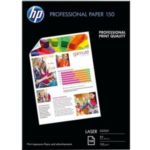 HP Papier Brillant Laser 150 GSM - 150 feuilles - A4 - 210 x 297 mm