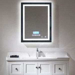 miroir lumineux salle de bains achat vente miroir lumineux salle de bains pas cher cdiscount. Black Bedroom Furniture Sets. Home Design Ideas