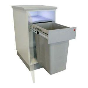 poubelle coulissante 40 litres achat vente poubelle coulissante 40 litres pas cher cdiscount. Black Bedroom Furniture Sets. Home Design Ideas