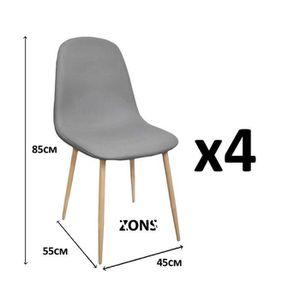 Lot de 4 chaises design scandinave tendance nordique for Chaise zons