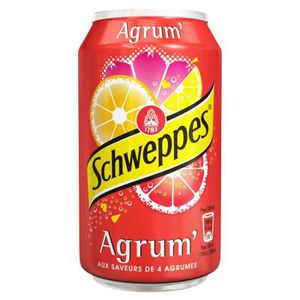 ASSORTIMENT 0% ALCOOL Schweppes Agrum 33cl (pack 24)