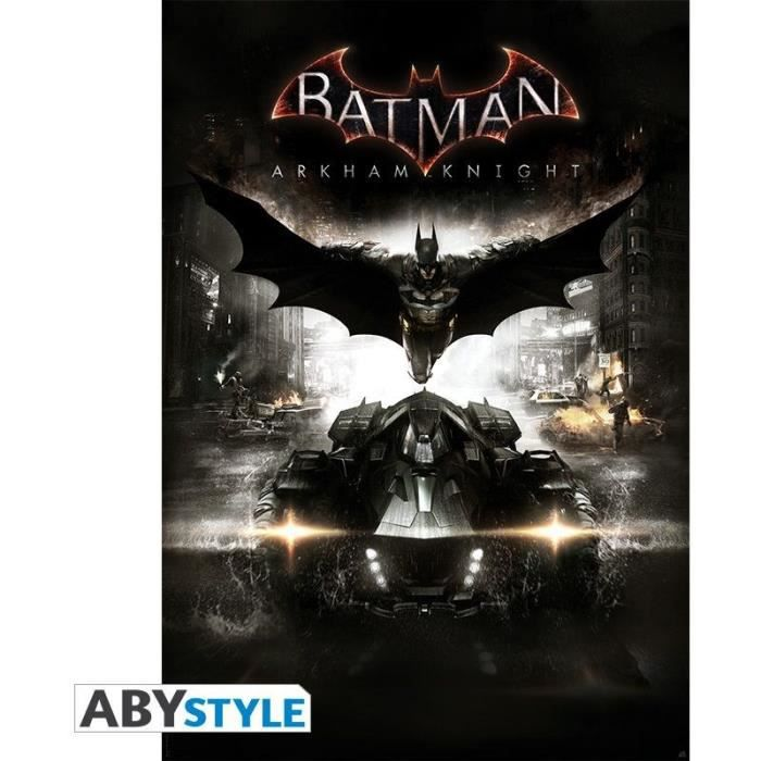 dc comics poster batman arkham knight 98x68 abystyle abydco308 achat vente affiche. Black Bedroom Furniture Sets. Home Design Ideas