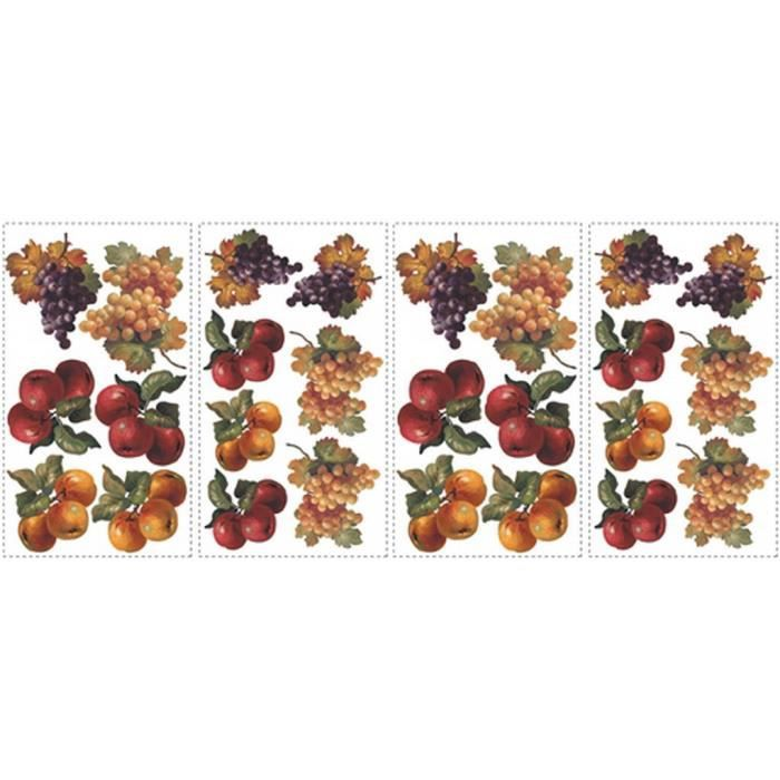 Stickers muraux adhesif mural fruits d 39 automne achat - Decoration stickers muraux adhesif ...