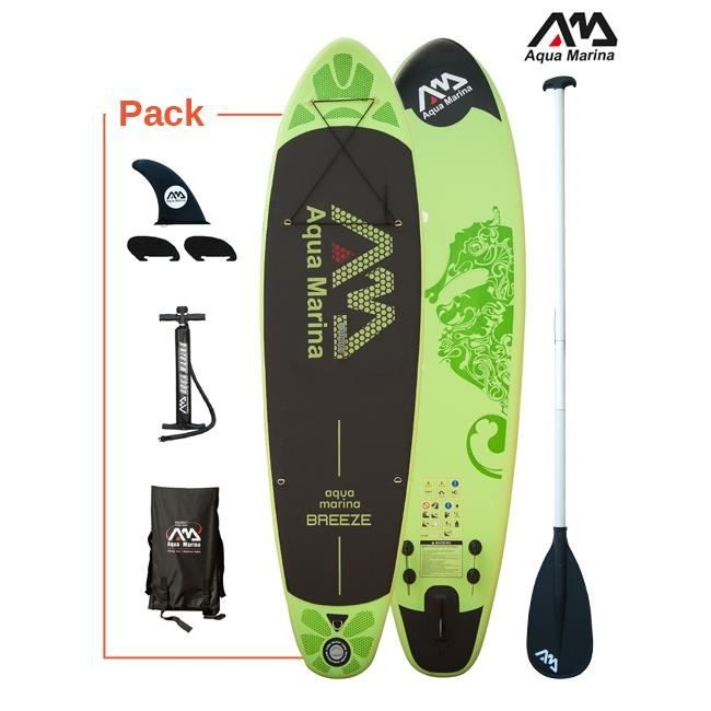 stand up paddle gonflable aquamarina breeze 297x76x10cm 39 pagaie incluse achat vente. Black Bedroom Furniture Sets. Home Design Ideas