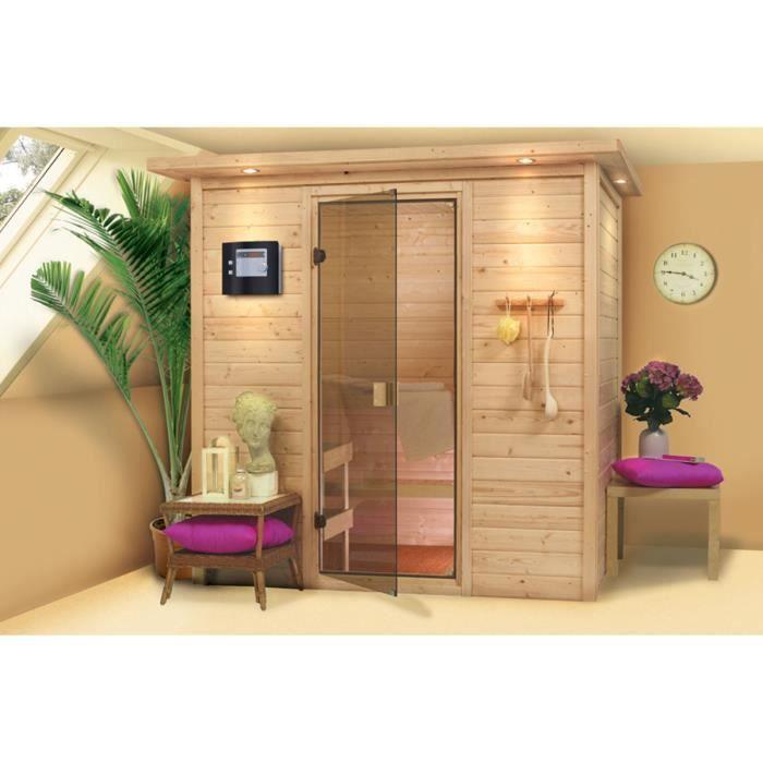sauna en bois massif 38 mm ronja achat vente kit sauna. Black Bedroom Furniture Sets. Home Design Ideas