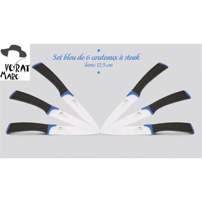 set de 6 couteaux steak marc veyrat lame 12 achat vente couteau de cuisine set de 6. Black Bedroom Furniture Sets. Home Design Ideas