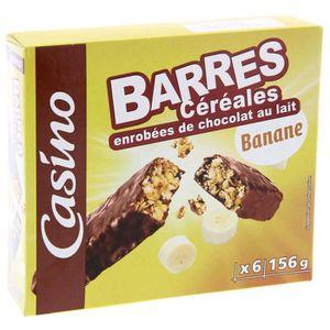 Barres de cereales - enrobées de chocolat au lait