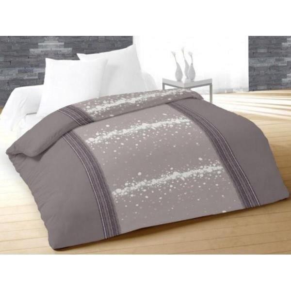 couette 220x240 cm imprim e 400g cm2 doux gris achat vente couette cadeaux de no l cdiscount. Black Bedroom Furniture Sets. Home Design Ideas