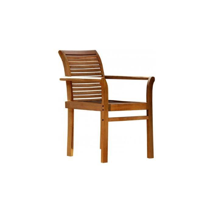Fauteuil de jardin bois balau noyer dossier et assise ajour s achat vente - Fauteuil de jardin en bois style americain ...