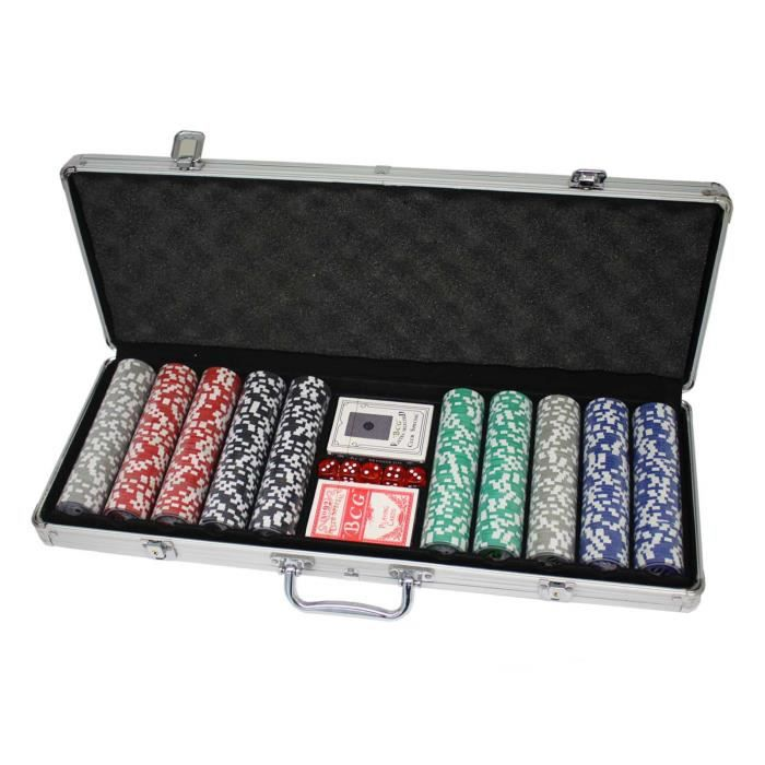 malette de poker en alu avec 500 jetons jetons achat. Black Bedroom Furniture Sets. Home Design Ideas
