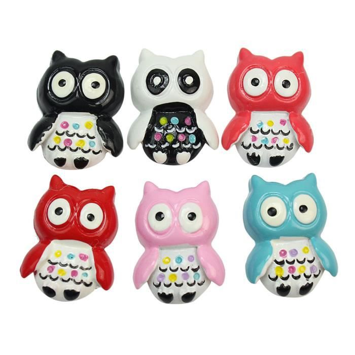 6x 3d hiboux owl color d coratifs aimants d cor r frig rateur frigo maison achat vente. Black Bedroom Furniture Sets. Home Design Ideas
