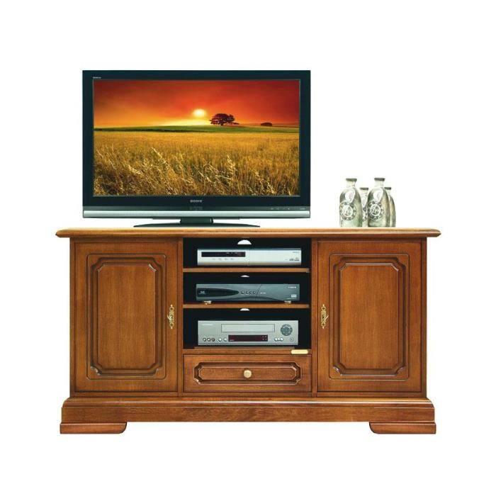 Meuble tv largeur 133 cm 2 portes 1 tiroir achat vente for Meuble tv petite largeur
