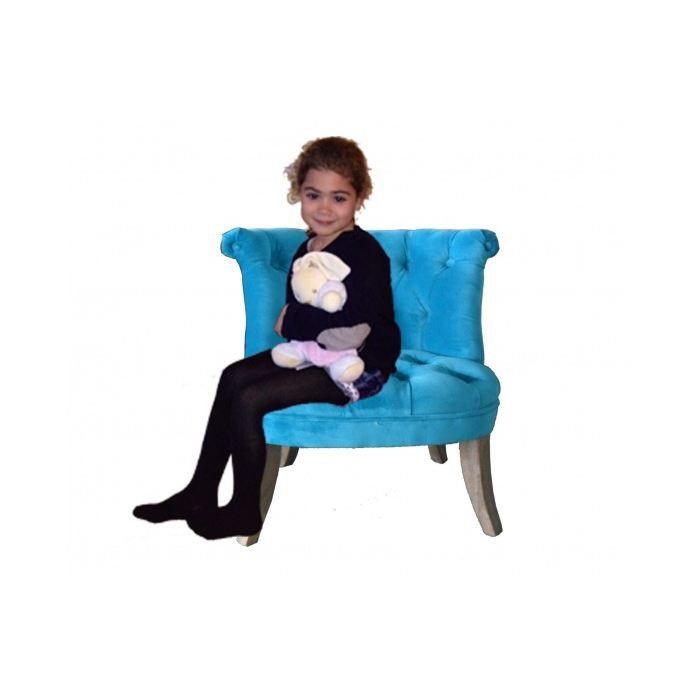 petit fauteuil crapaud capitonn velours turquoise achat vente fauteuil bleu cdiscount. Black Bedroom Furniture Sets. Home Design Ideas