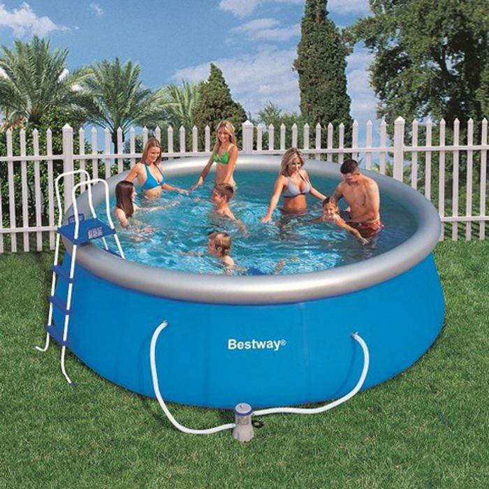 maison jardin plein air piscine autoportante fast set  x cm bestway f bes