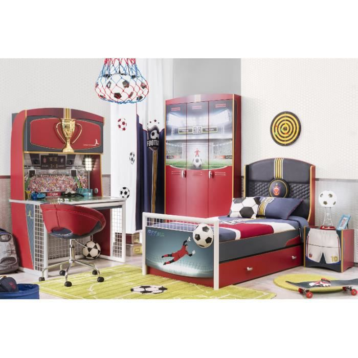 Chambre coucher ilek football compl te achat vente for Achat chambre a coucher complete