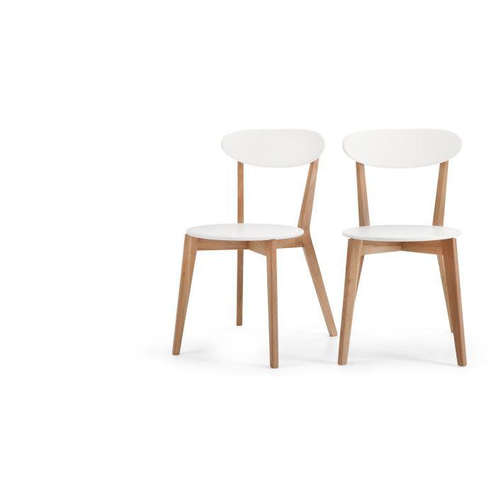 2 x fjord chaises ch ne et blanc achat vente chaise - Chaises blanc et bois ...