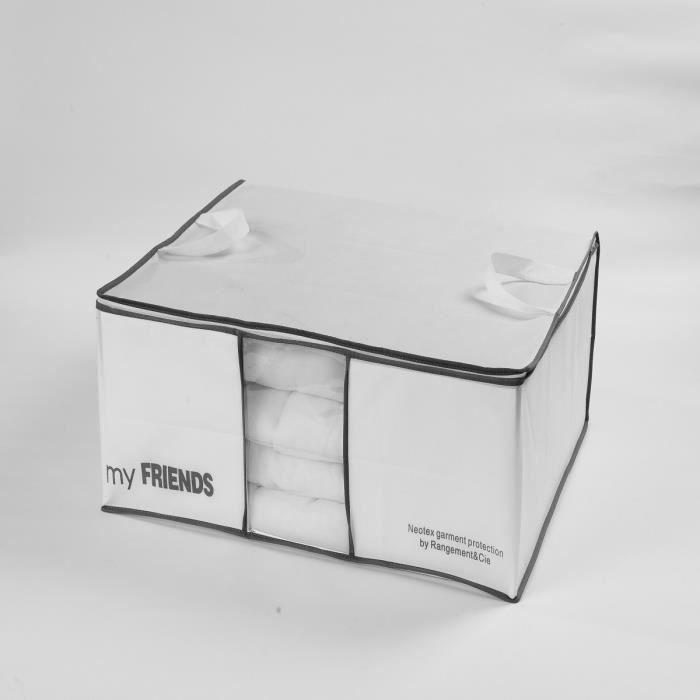 housse pour couette wos blanche 70x50x30 cm achat vente housse de rangement p va et 100. Black Bedroom Furniture Sets. Home Design Ideas