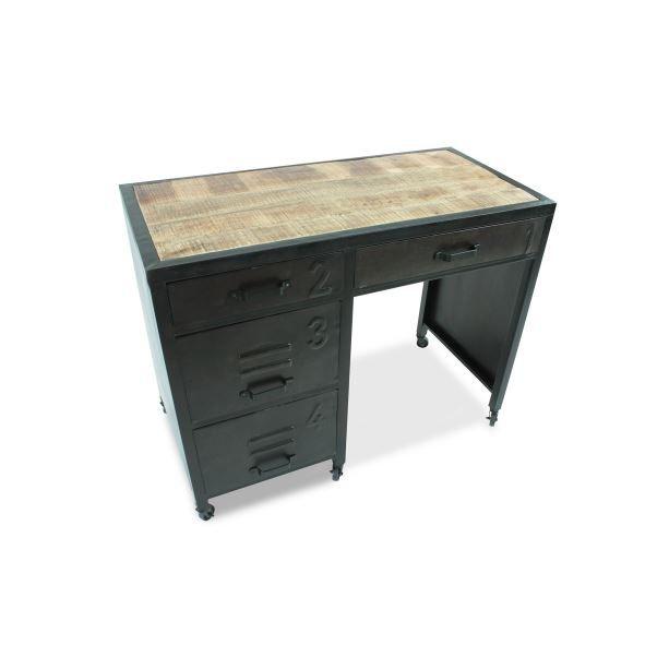 bureau en m tal kochi m tal vieilli achat vente bureau bureau en m tal kochi m t. Black Bedroom Furniture Sets. Home Design Ideas