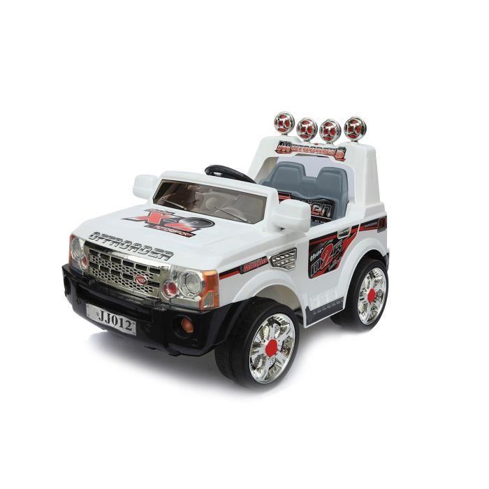 voiture lectrique 6v 4x4 lectrique blanc achat vente voiture enfant cdiscount. Black Bedroom Furniture Sets. Home Design Ideas