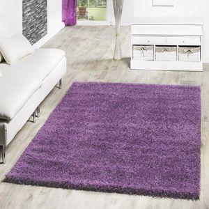 tapis tapis de salon longs poils plusieurs coloris vi - Tapis Color Pas Cher