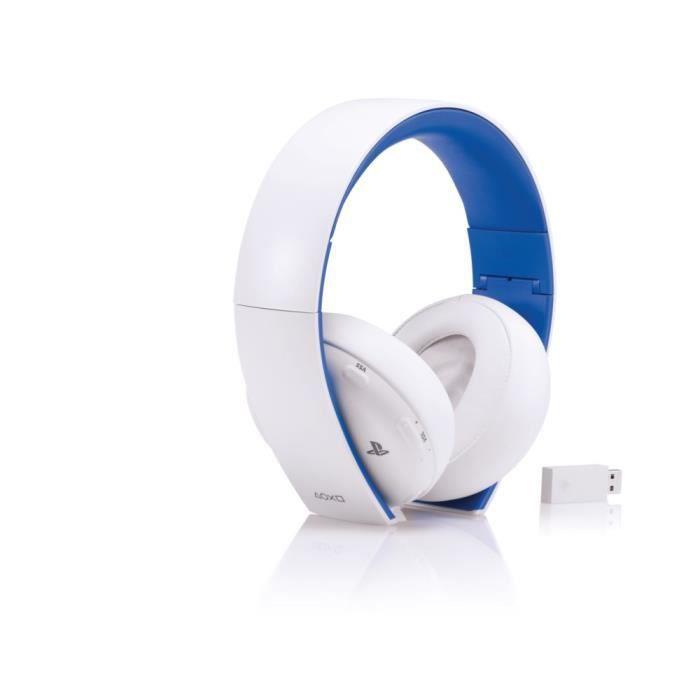 casque micro stereo sans 2 0 blanc ps4 ps3 psvita pc mac et appareils portables achat. Black Bedroom Furniture Sets. Home Design Ideas