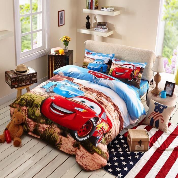 parure de couette enfant coton 1 linge de lit 180x230cm 1 housse de couette 150x200 cm 1. Black Bedroom Furniture Sets. Home Design Ideas