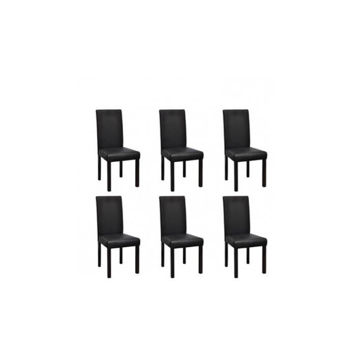 Chaise design colonial noire lot de 6 achat vente for Lot de 6 chaises design