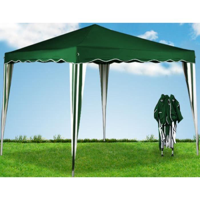 tente pliante tonnelle pavillon pliable 3x3m vert ombre. Black Bedroom Furniture Sets. Home Design Ideas