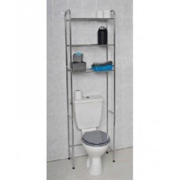 meuble de rangement pour wc en m tal chrom achat vente salle de bain complete meuble de. Black Bedroom Furniture Sets. Home Design Ideas