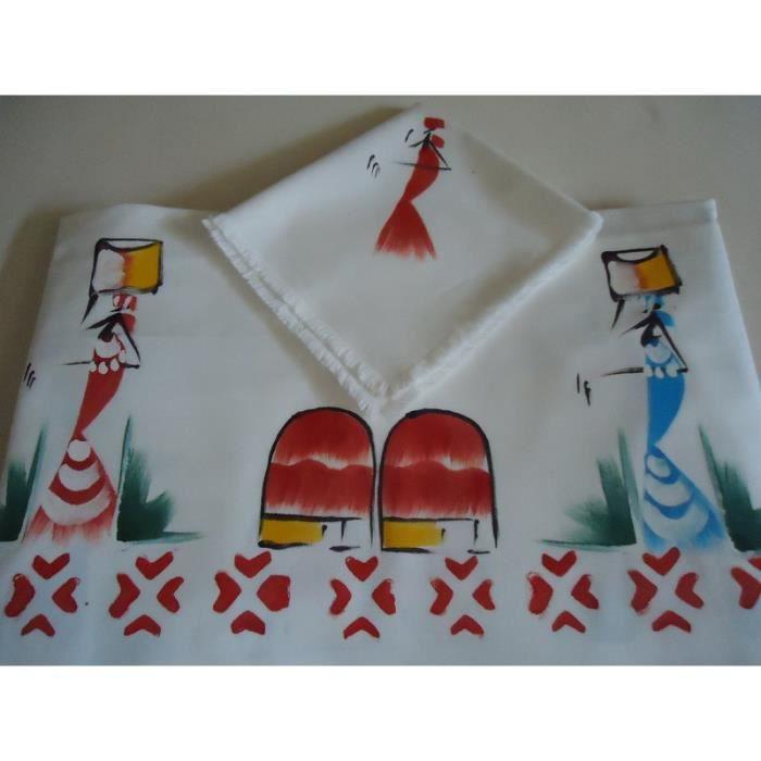 nappe rectangulaire 8 couverts en coton blanc achat vente nappe de table. Black Bedroom Furniture Sets. Home Design Ideas