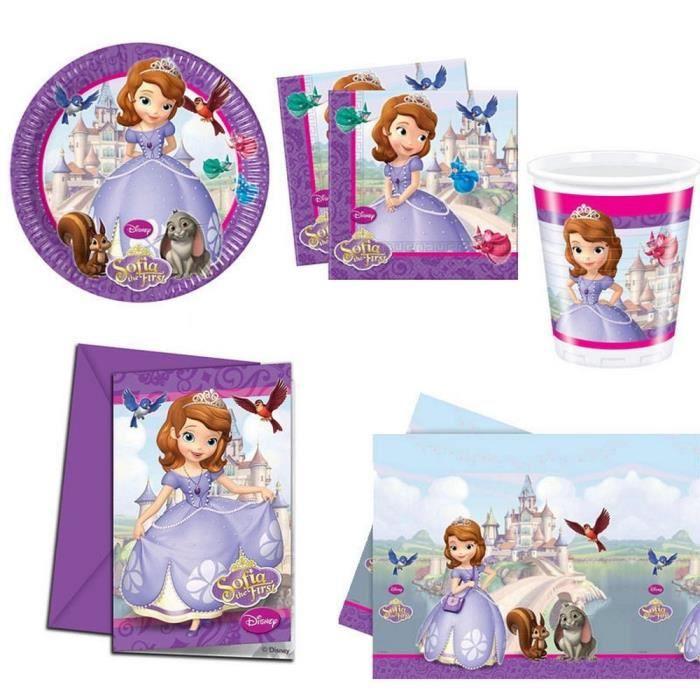 kit d coration anniversaire princesse sofia pour achat vente kit de decoration carton. Black Bedroom Furniture Sets. Home Design Ideas