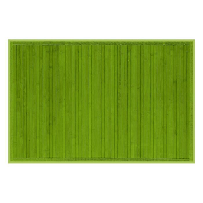 tapis bambou 90x180cm vert anis achat vente tapis. Black Bedroom Furniture Sets. Home Design Ideas