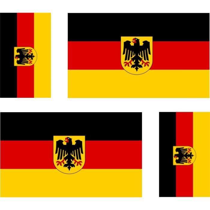 4 autocollant sticker drapeau allemagne aigle achat vente d coration v hicule set de 4. Black Bedroom Furniture Sets. Home Design Ideas